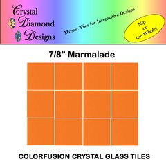 "12 - 7/8"" Marmalade Crystal Glass Mosaic Tiles for your Mosaic Designs MARWH"