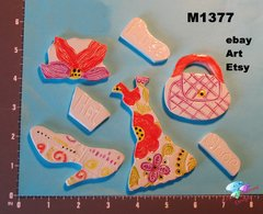 Assorted Clothing -  Handmade Ceramic Mosaic Tiles for your Projects M1377