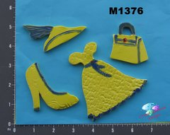 Assorted Clothing -  Handmade Ceramic Mosaic Tiles for your Projects M1376