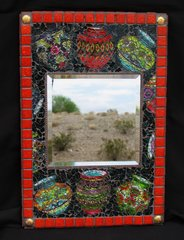 SOUTHWEST POT - MOSAIC WALL MIRROR, HANDMADE with a lot of BEAUTIFUL MR121