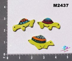 3 Assorted Turtles Handmade Mosaic Tiles M2437