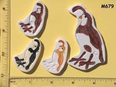 Quail Birds Assorted Southwest Handmade Mosaic Ceramic Tiles For your Projects M679