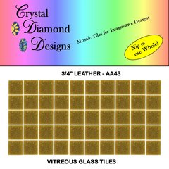 "50 - 3/4""  Leather Vitreous Glass Mosaic Tiles for your Mosaic Projects AA43"