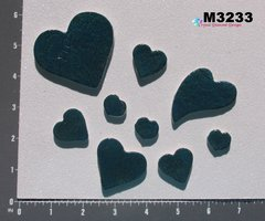 9 Assorted Glitter Hearts Handmade Mosaic Ceramic Tiles For your Projects M3233