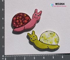 2 Snails Handmade Mosaic Ceramic Tiles For your Projects M3264