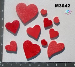 11 Assorted Hearts Handmade Mosaic Ceramic Tiles For your Projects M3042