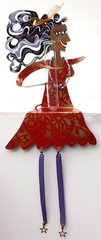 Red Dress Flower Power Shelf Sitter