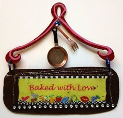 Baked With Love Mini Plaque