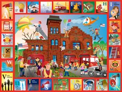 Firehouse Alphabet Placemat