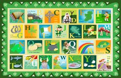 St. Patrick's Day Alphabet Placemat
