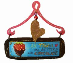 Strawberry Chocolate Mini Plaque