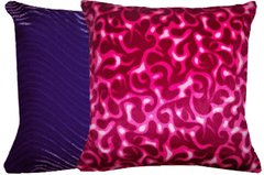 Pink Flames and Swirl Purple Pillow Set