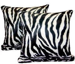 Zebra Print Pillow Set (large)