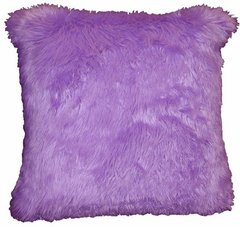 Lilac Faux Fur Pillow (large)