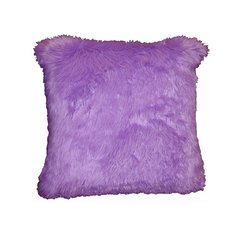 Lilac Faux Fur Pillow (small)