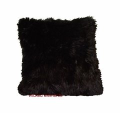 Black Faux Fur Pillow (small)