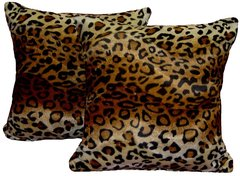 Wild Brown Leopard Pillow Set (large)