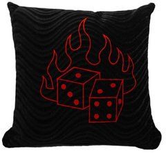Embroidered Dice Pillow (small)