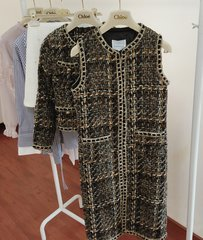 1659 Madam Coco One Size Chained Tweed Elegant Long Vest
