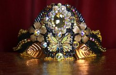 2130 Black Bronze Baroque Butterfly Crown Tiara
