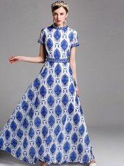 2095 Designer Inspired Delicate  Embroidery Gown Maxi Dress