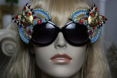 1132 Amazing Venetian Mask Hand Painted Sunglasses