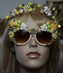 1314 Baroque Designer Inspired Lemon Cherub Sunglasses Shades