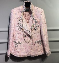 1664 Limted Eddition High End Pink Madam Coco Tweed Blazer US4