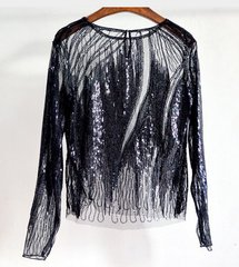 2073 Designer Sequin 3 Colors Fancy Evening  One Size Top