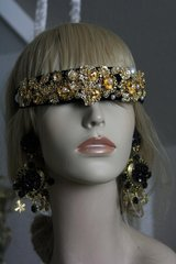 1206 Baroque Gold Metal Flower Pearl Headband