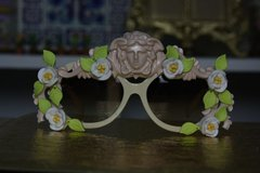 395 UV 400 Unisex Art Jewelry Zibellini Medusa Flower Unusual Unique Fancy Sunglasses
