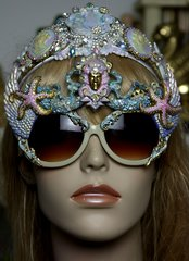 1237 Italian Medusa Total BAroque Hand Painted Embellished Sunglasses