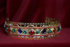 1696 Baroque Colorful Filigree Headband