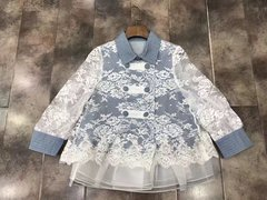 2050 Designer Inspired  Lace Cotton Fancy Bolero-Jacket