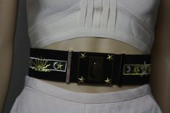 SOLD! 1896 Star Moon Designer Inspired Wide Waist Belt