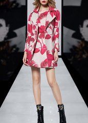 2144 Runway High End Leaf Print Twinset