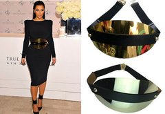 Designer Inspired Massive Gold Mirrow Waist Belt