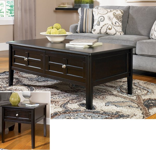 T517 0 Ashley Furniture Nestor: Ashley Henning 3 Pc. Table Set