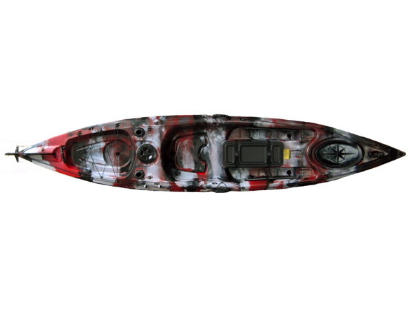 Ark angler 4 0 red camo assabet river kayaks for Angler fish ark