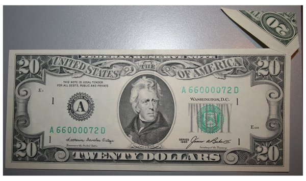1985 Twenty Dollar Federal Reserve Butterfly Error Note