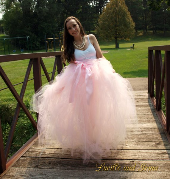 Long Tutus For Adults Adult Pale Pink Long Tutu