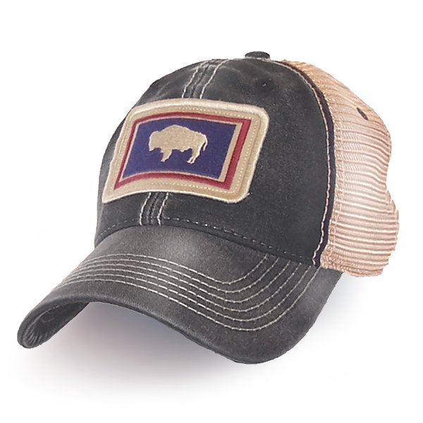 Wyoming State Flag Hat Black S L Revival Co