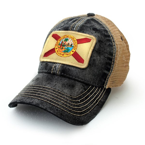Florida State Flag Hat, Black | S.L. Revival Co