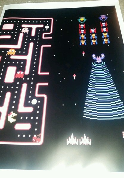 Best Side By Side >> 25th anniversary ms pac man galaga kickplate art | 313 arcade