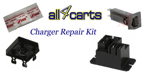 Club car powerdrive 2 charger repair kit golf cart for Golf cart motor repair