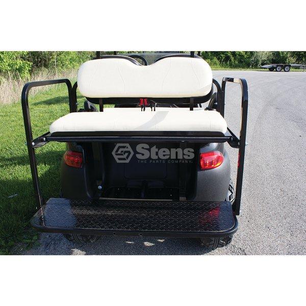 Rear Flip Seat Club Car Precedent White Golf Cart