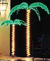 SUPER BRIGHT LED LIGHTED TROPICAL PALM TREES - 5 Times Brighter Than Incandescent Bulbs