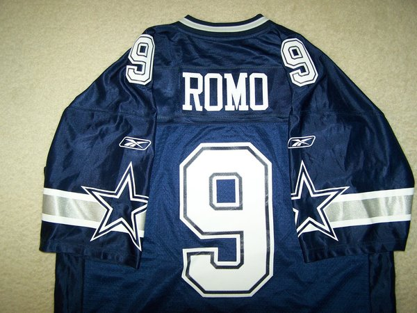 #9 TONY ROMO Dallas Cowboys NFL QB Blue Throwback Jersey