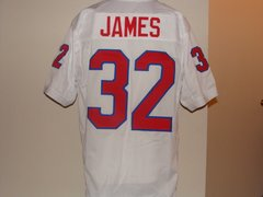 #32 CRAIG JAMES SMU Mustangs NCAA RB White Throwback Jersey