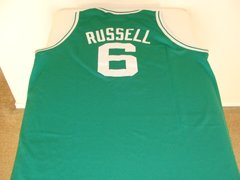 #6 BILL RUSSELL Boston Celtics NBA Center Green M&N Throwback Jersey